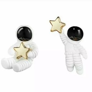 Jewelry - Astronaut and Star Space Stud Earrings